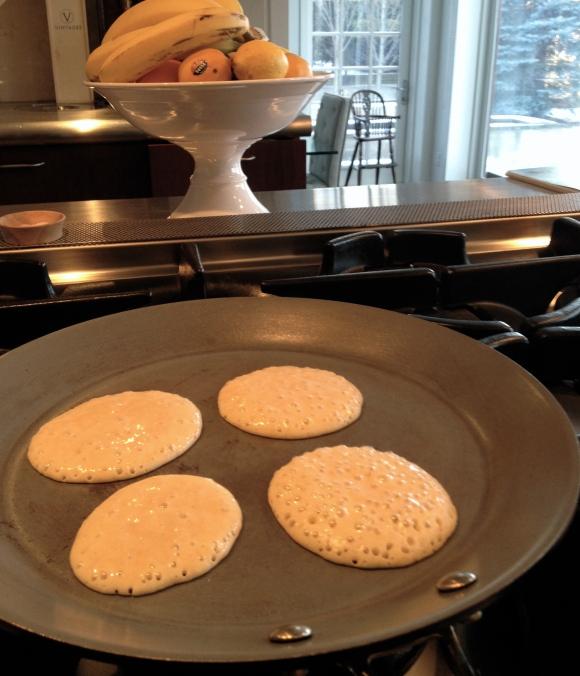 Pancakes Bubbling