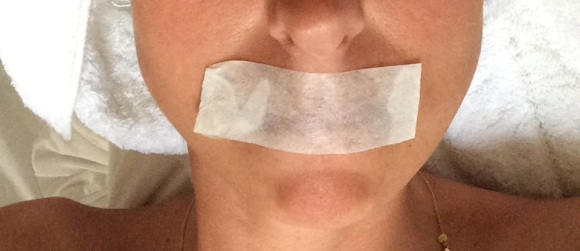 taped mouth